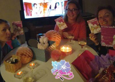 Photo envoyé par une cliente lors de la pyjama party qu'elle à organisé chez elle.