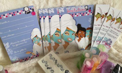 Beauty party spa party, atelier beauté, annivzrsaire, pyjama party, soirée filles