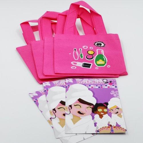 4 Sacs cadeaux invitations Spa Party C Sparty